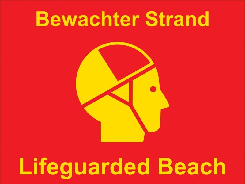 Lifeguarded Beach - Bewachter Strand